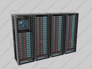 rack server set 3d model