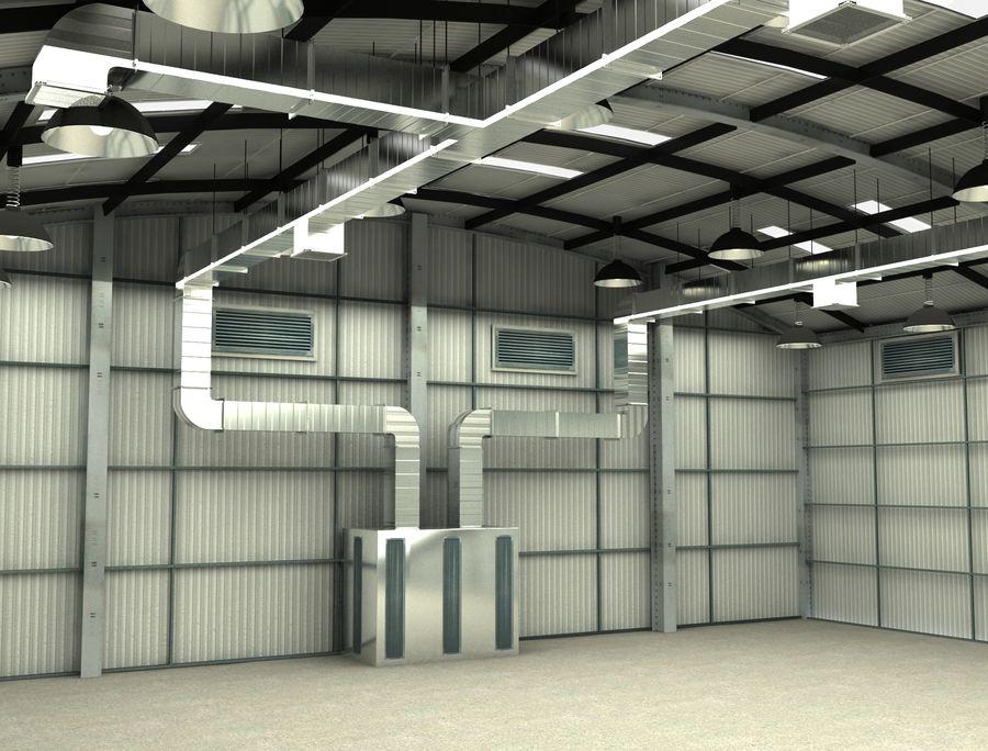 工場および航空機格納庫 royalty-free 3d model - Preview no. 7