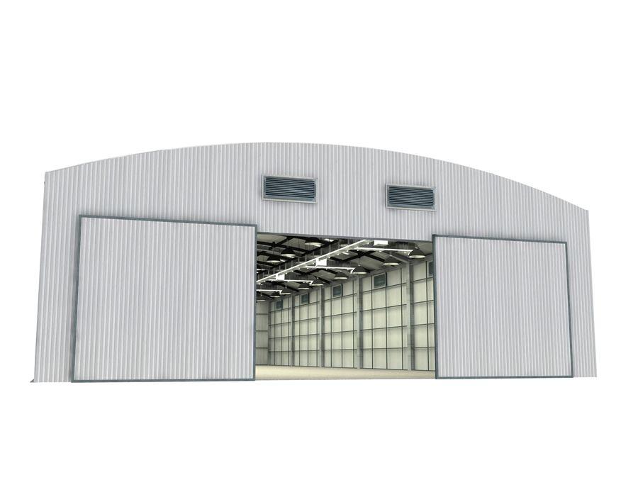 工場および航空機格納庫 royalty-free 3d model - Preview no. 3