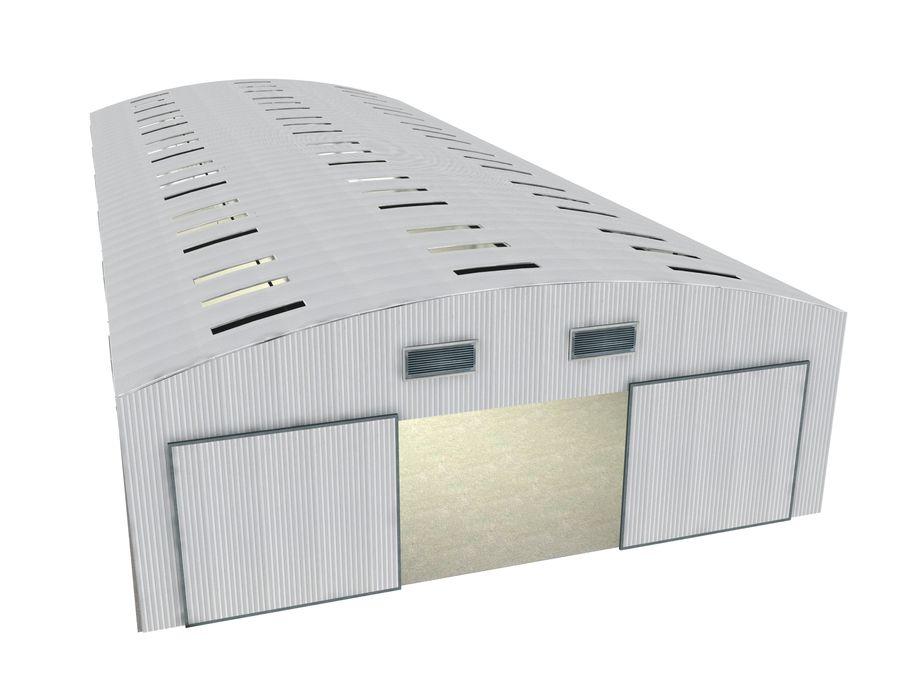 工場および航空機格納庫 royalty-free 3d model - Preview no. 2