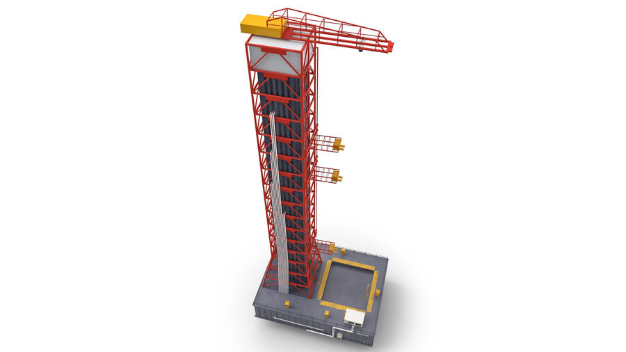 Rocket Launch Base royalty-free 3d model - Preview no. 6