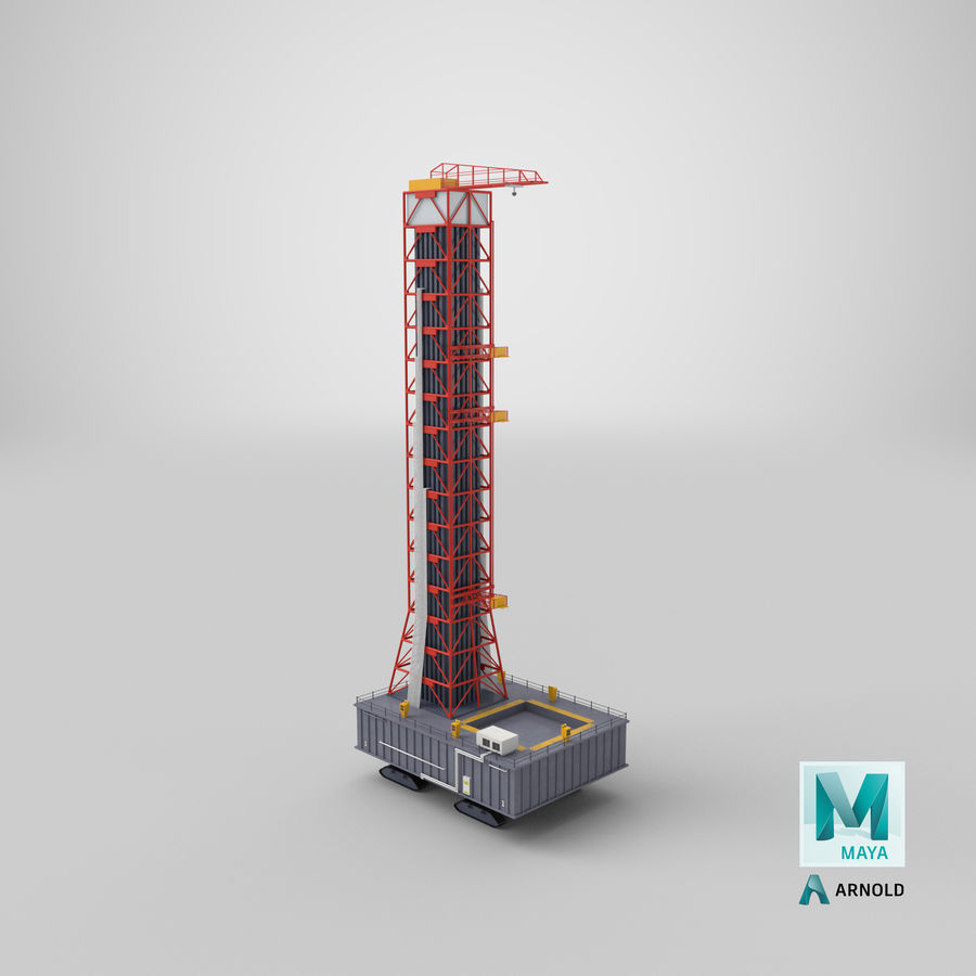 Rocket Launch Base royalty-free 3d model - Preview no. 23