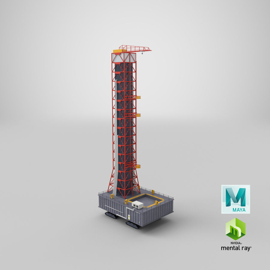 Rocket Launch Base royalty-free 3d model - Preview no. 24