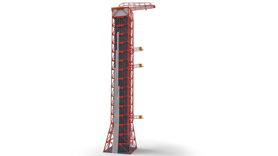 Rocket Launch Base royalty-free 3d model - Preview no. 12