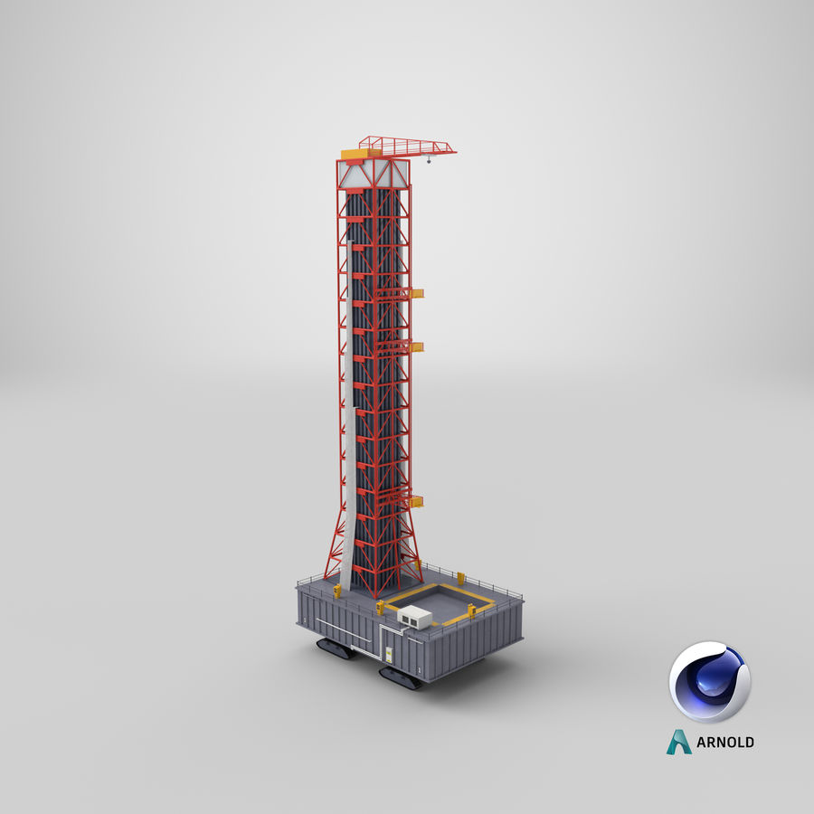 Rocket Launch Base royalty-free 3d model - Preview no. 19