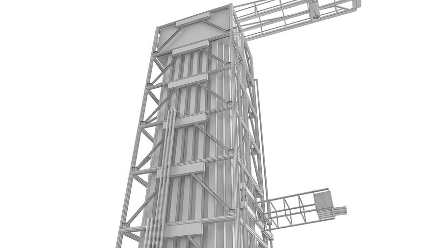 Rocket Launch Base royalty-free 3d model - Preview no. 16