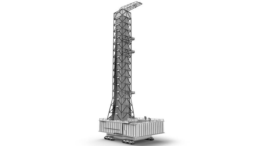 Rocket Launch Base royalty-free 3d model - Preview no. 14