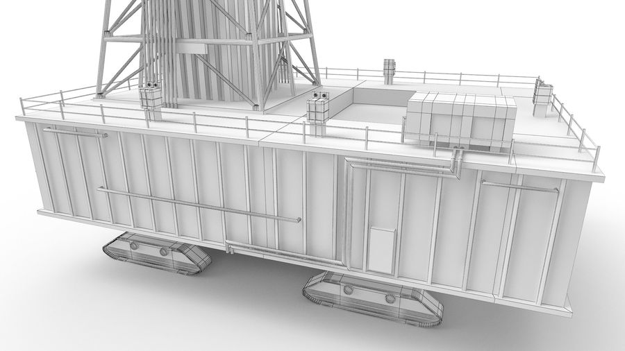 Rocket Launch Base royalty-free 3d model - Preview no. 15