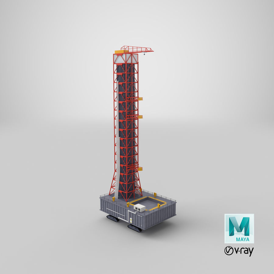 Rocket Launch Base royalty-free 3d model - Preview no. 25