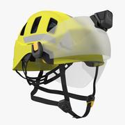 Petzl Strato Vent Hi-Viz hjälm med visir och ficklampa 3d model