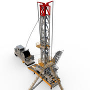 Plate-forme pétrolière mobile 3d model