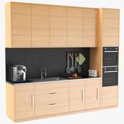調理器具付きキッチンユニット 3d model