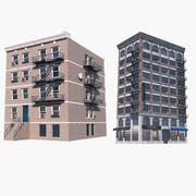 Kolekcja budynków mieszkalnych 2 3d model