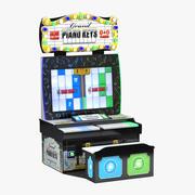 Piano Keys Arcade Game 3d model