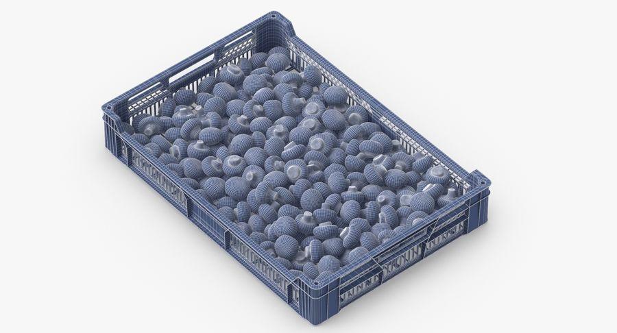 Nachernte-Obst- und Gemüse Behälter mit weißen Knopf-Pilzen royalty-free 3d model - Preview no. 12