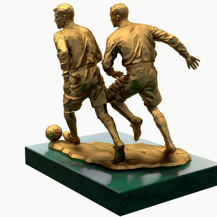 futbol kupası royalty-free 3d model - Preview no. 8