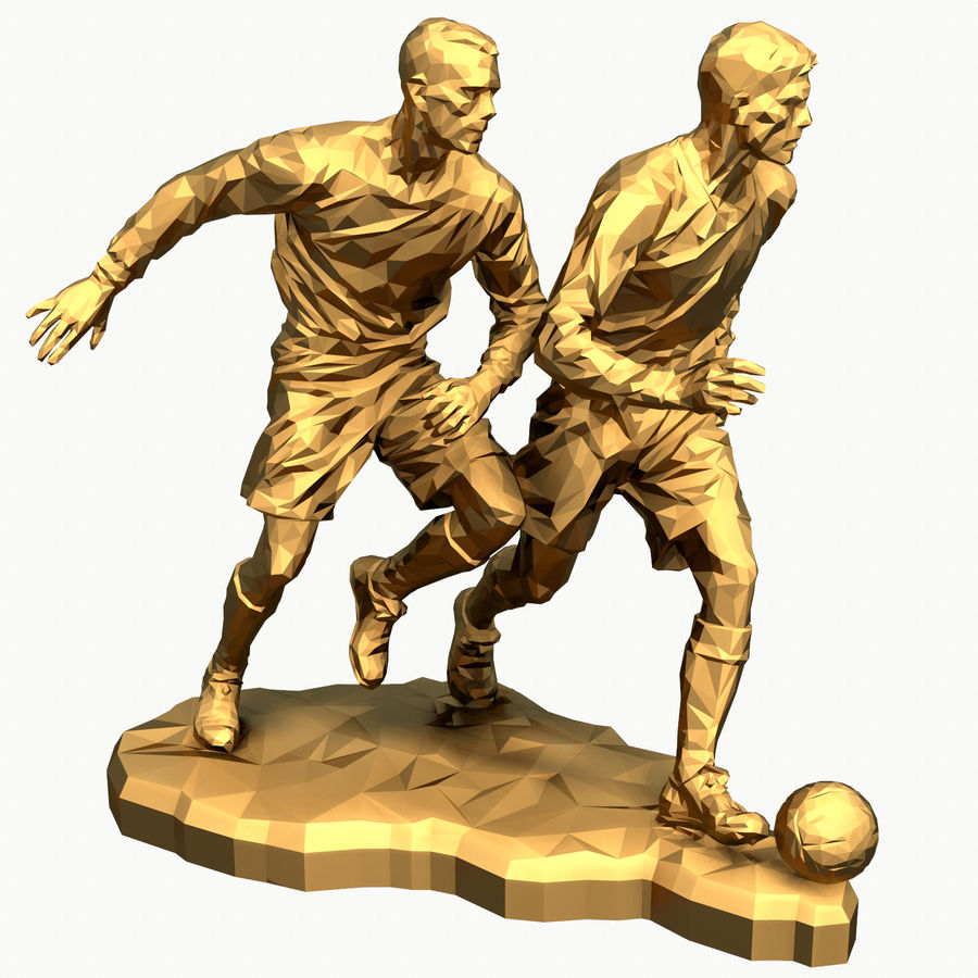 futbol kupası royalty-free 3d model - Preview no. 12