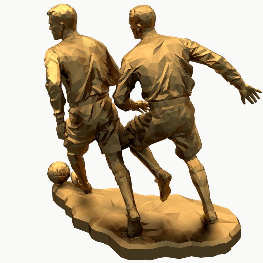 futbol kupası royalty-free 3d model - Preview no. 13