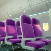 Ambiente da cabine da aeronave 3d model