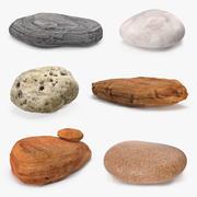 Coleção de pedras de pedra 6 3d model