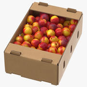 Cardboard Display Box 01 with Nectarines Game Ready 3d model