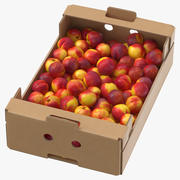 Cardboard Display Box 02 with Nectarines Game Ready 3d model