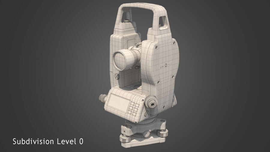 セオドライトバーガーDGT2 royalty-free 3d model - Preview no. 9