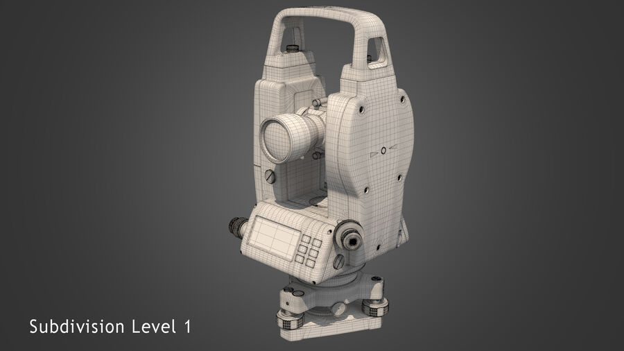 セオドライトバーガーDGT2 royalty-free 3d model - Preview no. 10