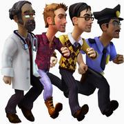 personnages de jeux occasionnels 3d model