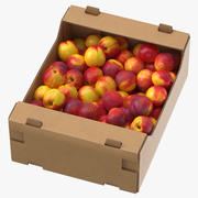 Kartonnen display Box 03 met Nectarines Game Ready 3d model