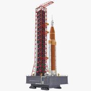 Rakieta SLS Block 1 na Launch Base Model 3D 3d model
