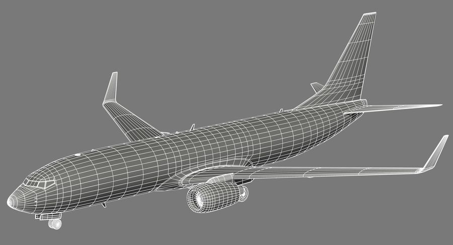 Boeing 737 800 TUI royalty-free 3d model - Preview no. 17