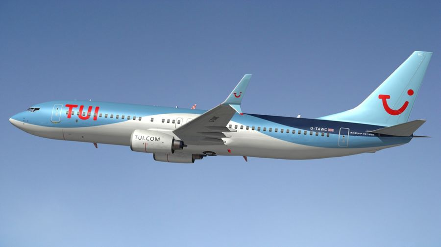 Boeing 737 800 TUI royalty-free 3d model - Preview no. 2