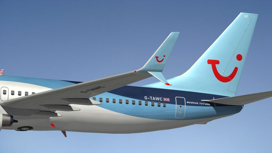 Boeing 737 800 TUI royalty-free 3d model - Preview no. 5