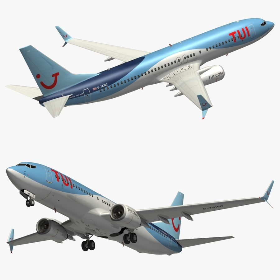 Boeing 737 800 TUI royalty-free 3d model - Preview no. 1