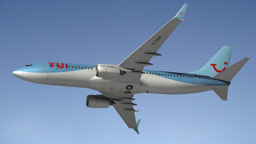 Boeing 737 800 TUI royalty-free 3d model - Preview no. 4