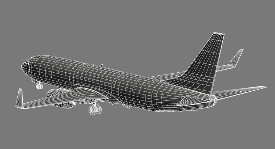 Boeing 737 800 TUI royalty-free 3d model - Preview no. 18