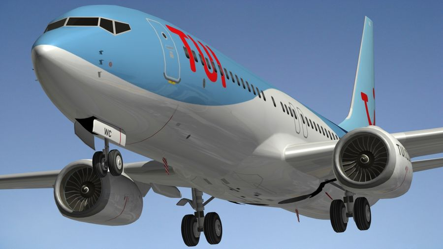 Boeing 737 800 TUI royalty-free 3d model - Preview no. 6