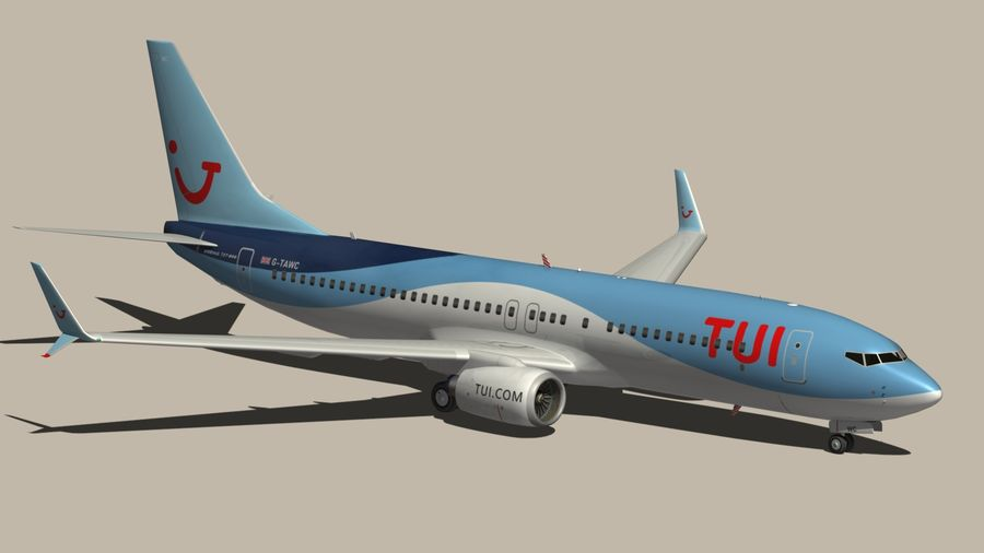 Boeing 737 800 TUI royalty-free 3d model - Preview no. 11