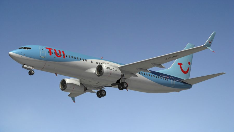 Boeing 737 800 TUI royalty-free 3d model - Preview no. 13