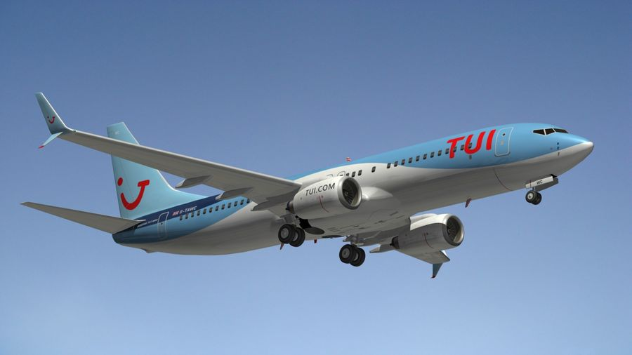 Boeing 737 800 TUI royalty-free 3d model - Preview no. 12