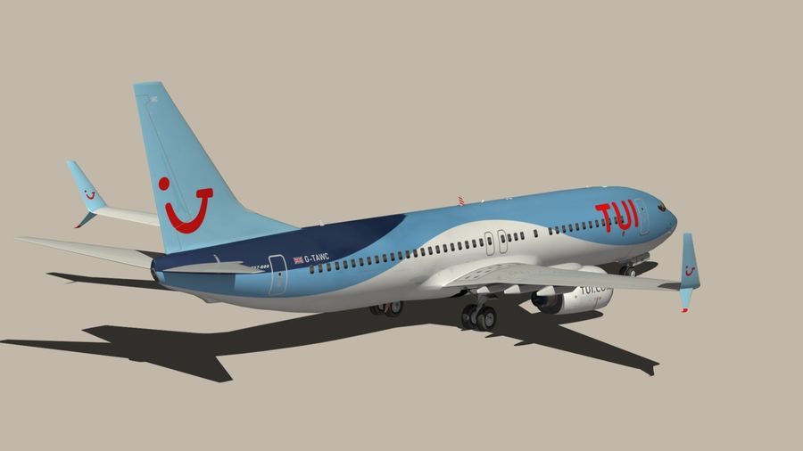 Boeing 737 800 TUI royalty-free 3d model - Preview no. 10