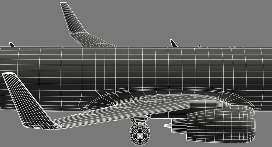 Boeing 737 800 TUI royalty-free 3d model - Preview no. 22