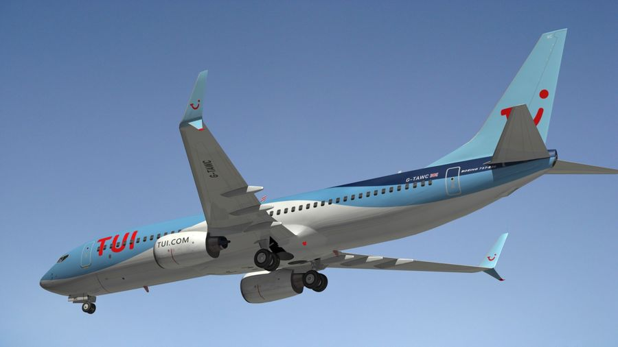 Boeing 737 800 TUI royalty-free 3d model - Preview no. 14