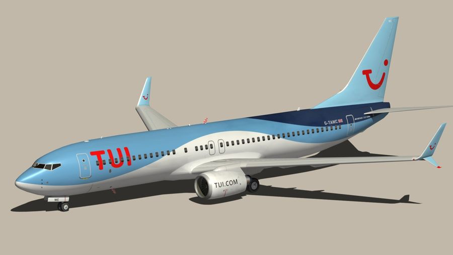 Boeing 737 800 TUI royalty-free 3d model - Preview no. 8