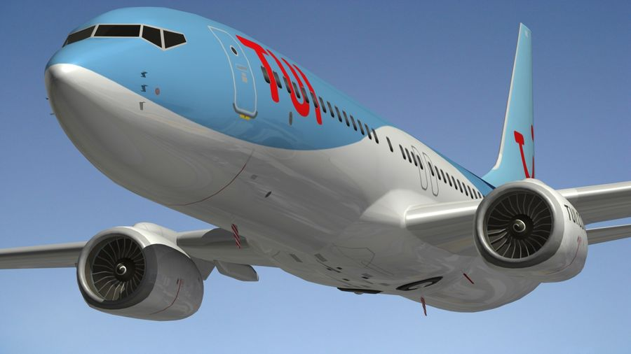 Boeing 737 800 TUI royalty-free 3d model - Preview no. 7