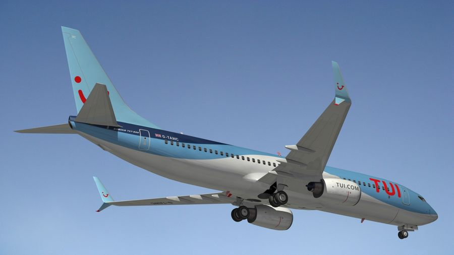 Boeing 737 800 TUI royalty-free 3d model - Preview no. 15