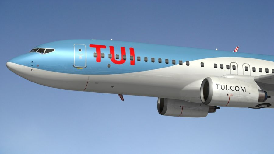 Boeing 737 800 TUI royalty-free 3d model - Preview no. 3