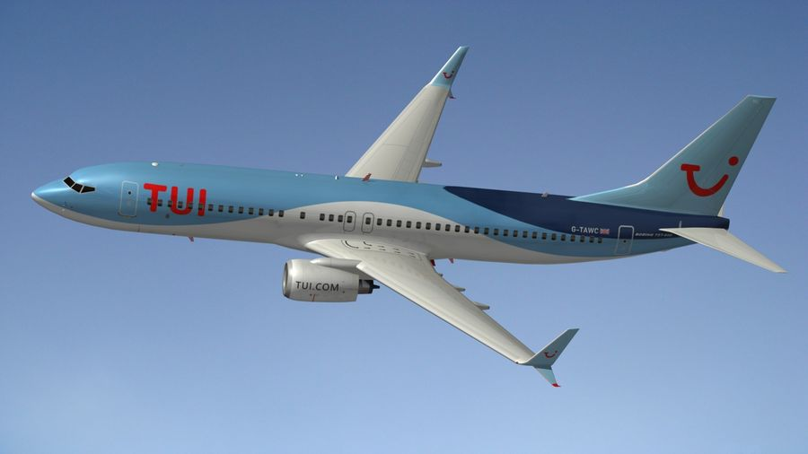 Boeing 737 800 TUI royalty-free 3d model - Preview no. 16