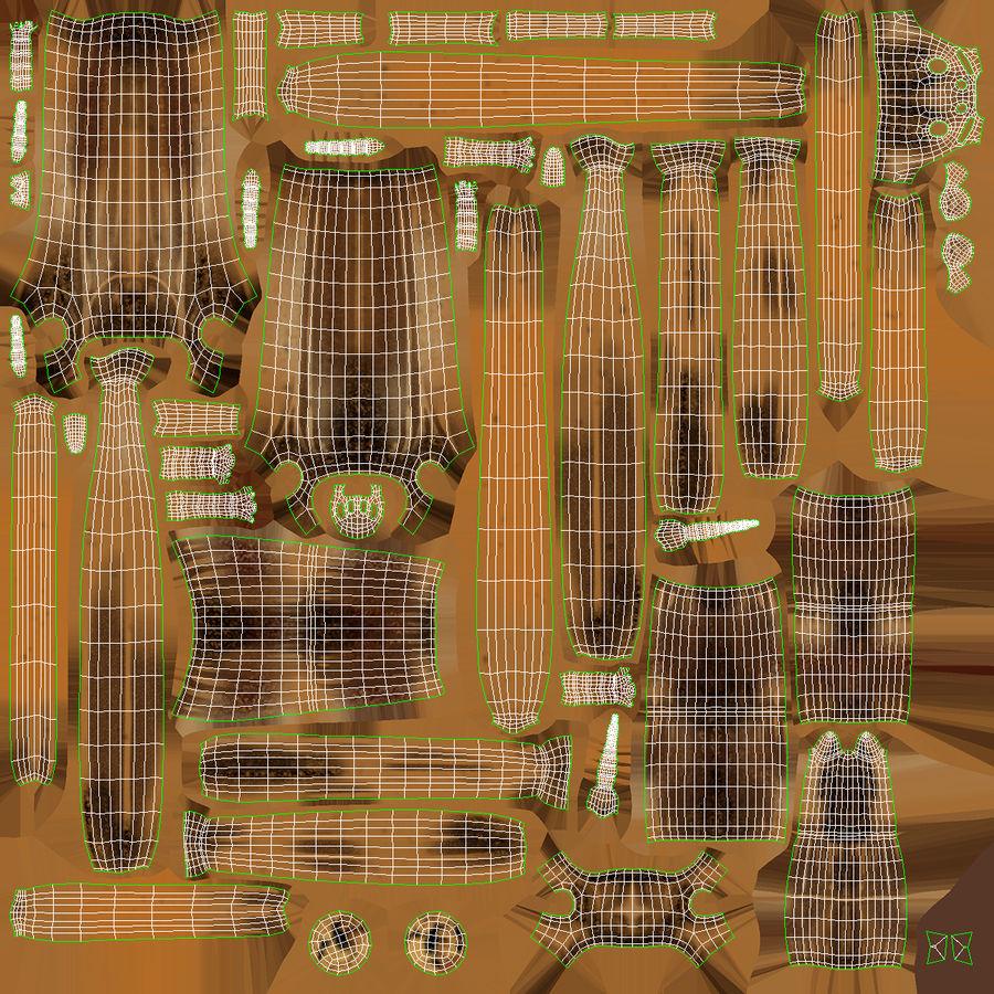 Bâton d'attaque Brown Attack Pose royalty-free 3d model - Preview no. 15